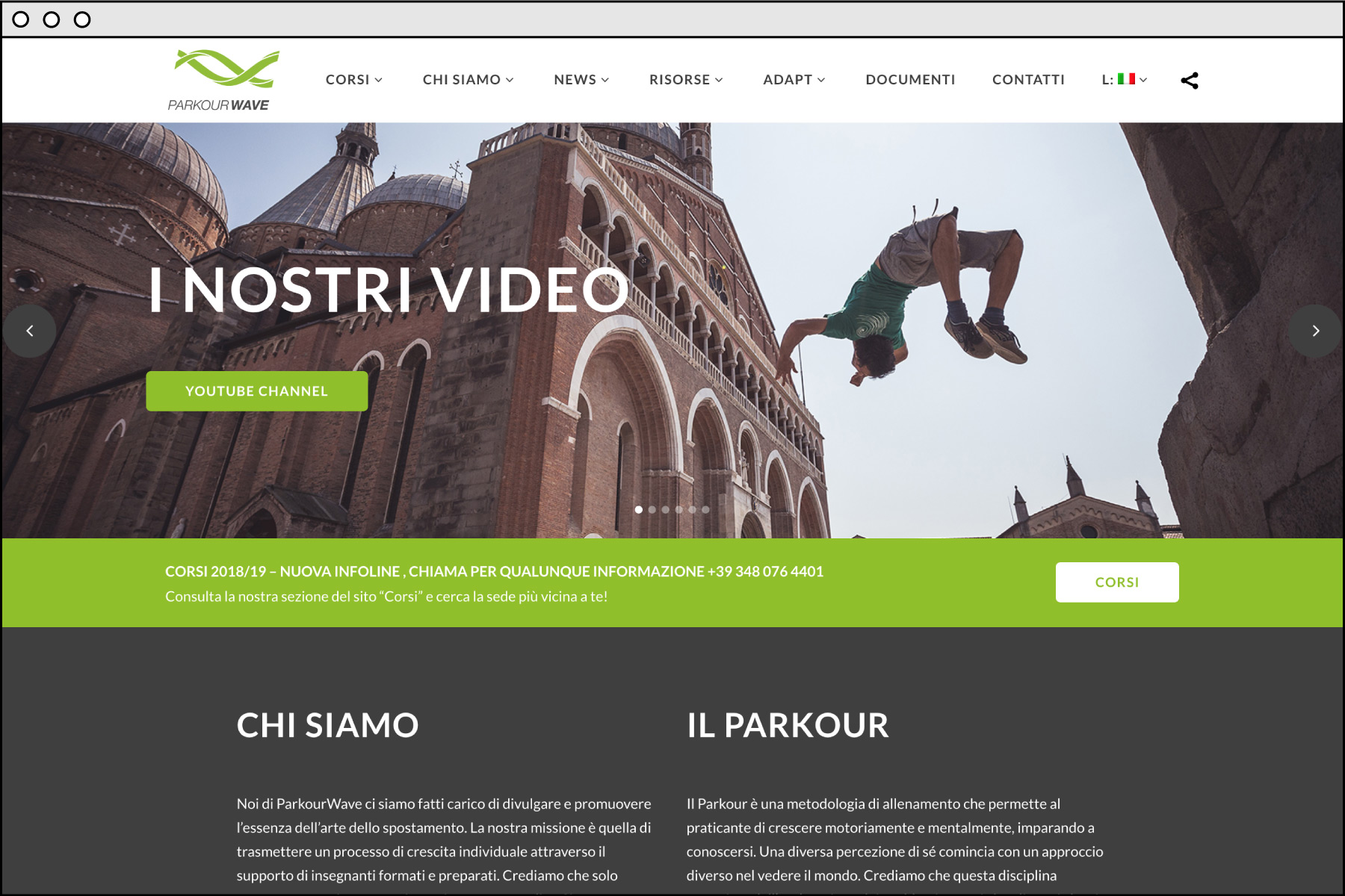 Parkour Wave sito web